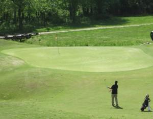 golf chip shot on a par 3